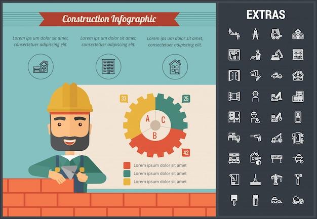 건설 infographic 템플릿 및 요소