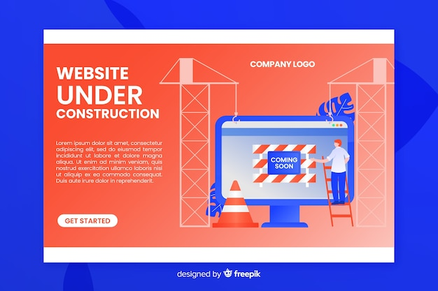 Under construction landing page template