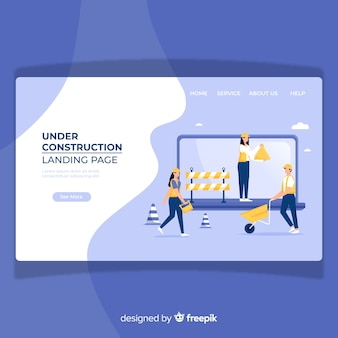 Under construction landing page