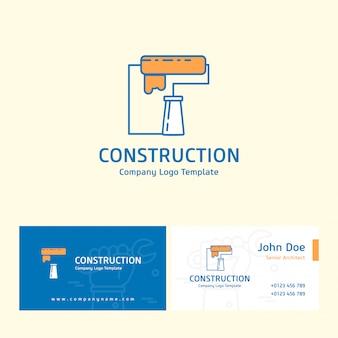Логотип строительства и визитная карточка