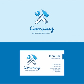Construction logo and business card