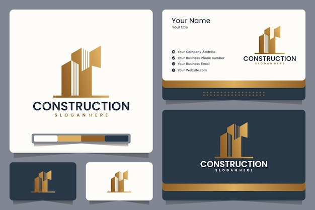 Construction logo design and business card