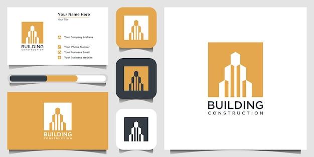 Construction logo design template building abstract for logo design inspiration