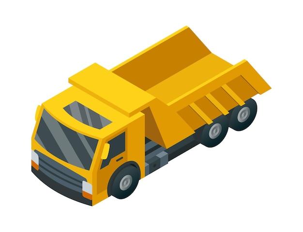 建設機械は等尺性です。重い輸送。重鉱を表すアイコン
