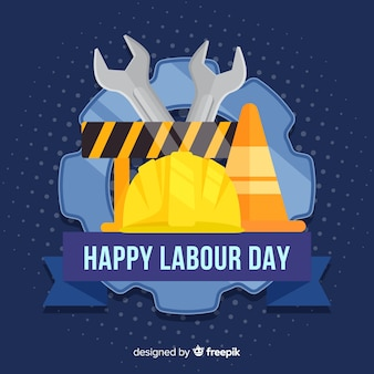 Construction material labor day background