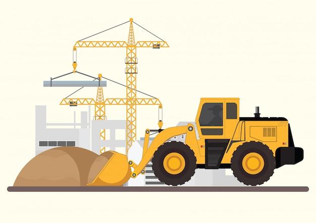 建物の建設。
