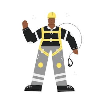 Строитель или фабричный рабочий в каске