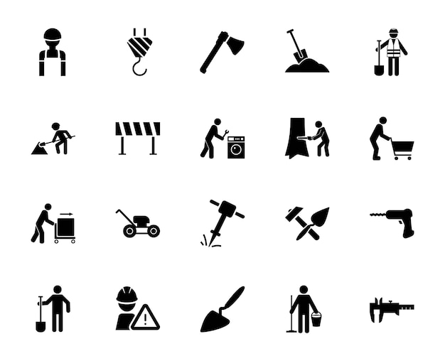 Construction and repair icon set