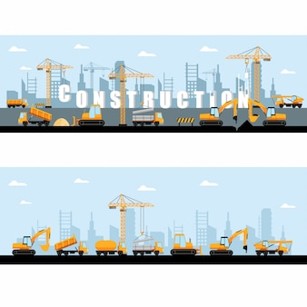 Construction site banner