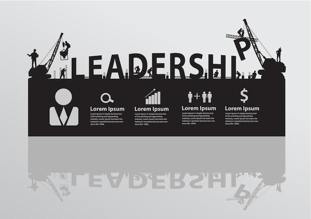 Construction site crane building leadership text idea concept