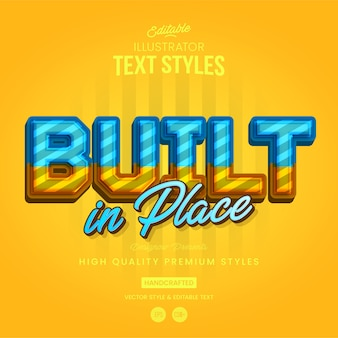 Construction text style
