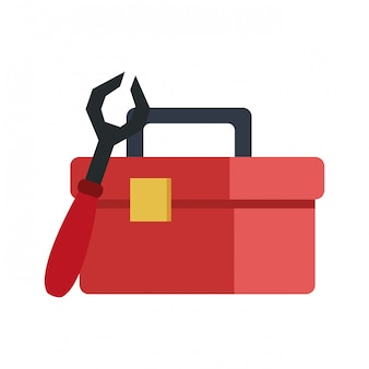 Construction toolbox isolated