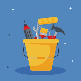 Construction tools bucket