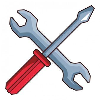 Construction tools caroon