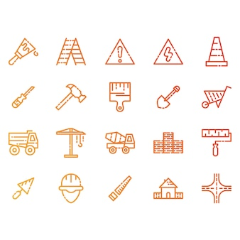 Construction and tools icons