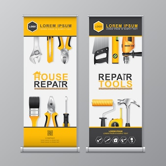 Construction tools roll up template