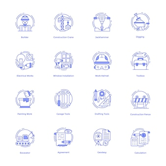 Construction tools vector pack