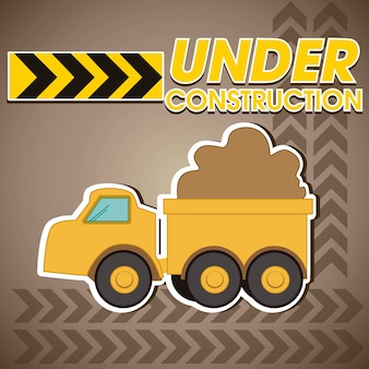 Construction truck transporting sand