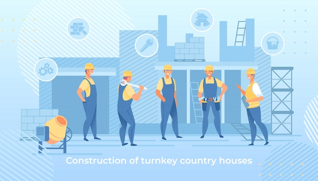 Construction of turnkey country houses service