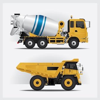 Construction vehicles vector illustration