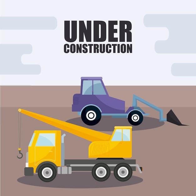 Under construction vehicles