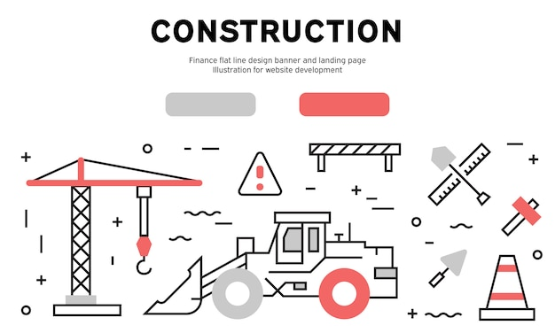 Construction web banner