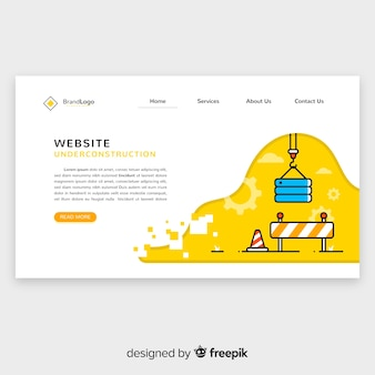 Under construction web landing page