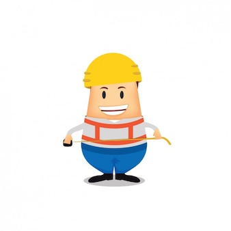 Construction worker avatar design