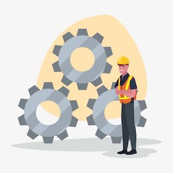 Construction worker gears