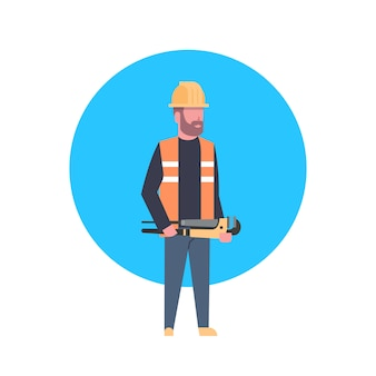 Construction worker icon builder man wearing helmet
