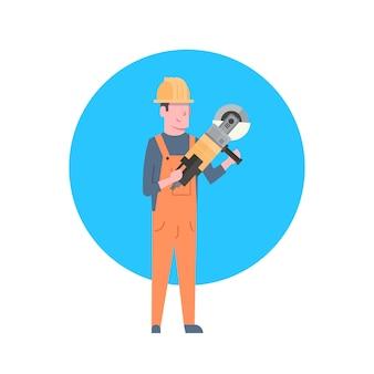 Construction worker icon builder man wearing helmet
