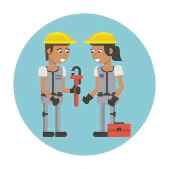 建設労働者の漫画