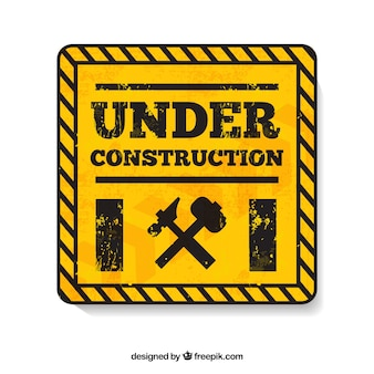 Under construction yellow symbol