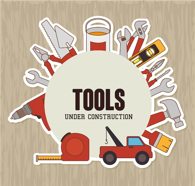 Constructions and tools theme design.
