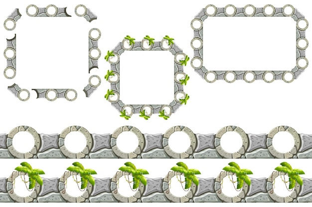 Constructor stone border and frames