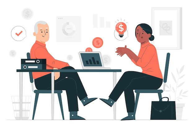 Consultative sales concept illustration