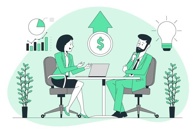 Illustrazione del concetto di vendita consultiva