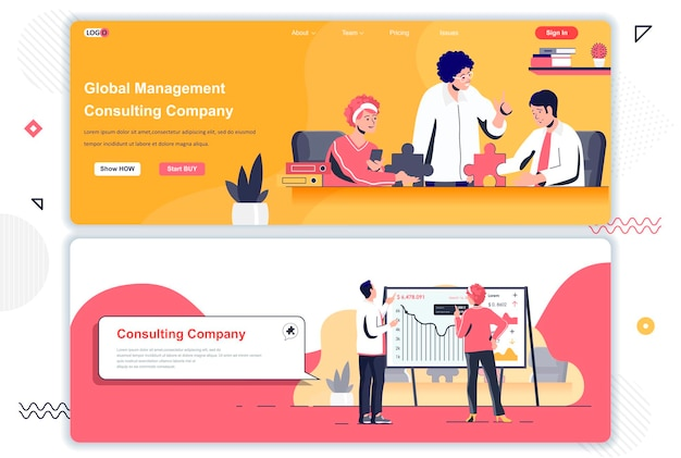 Consulting company landing pages