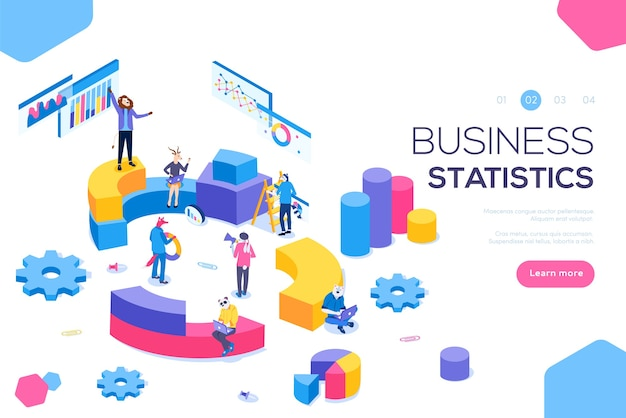Consulting for company performance, analysis concept. statistics and business statement.