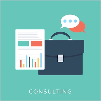 Consulting flat vector icon