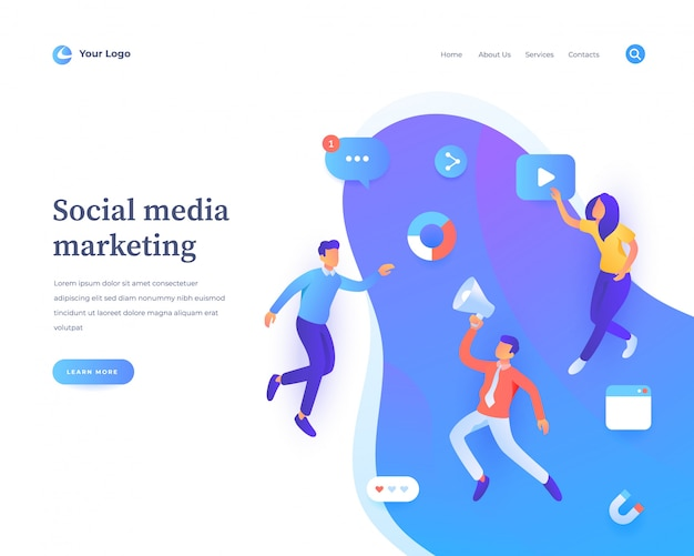 Consulting services landing page