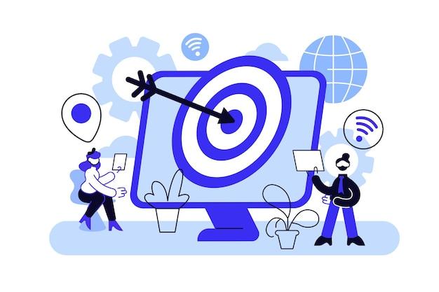 Потребители с устройствами получают целевую рекламу и сообщения.
