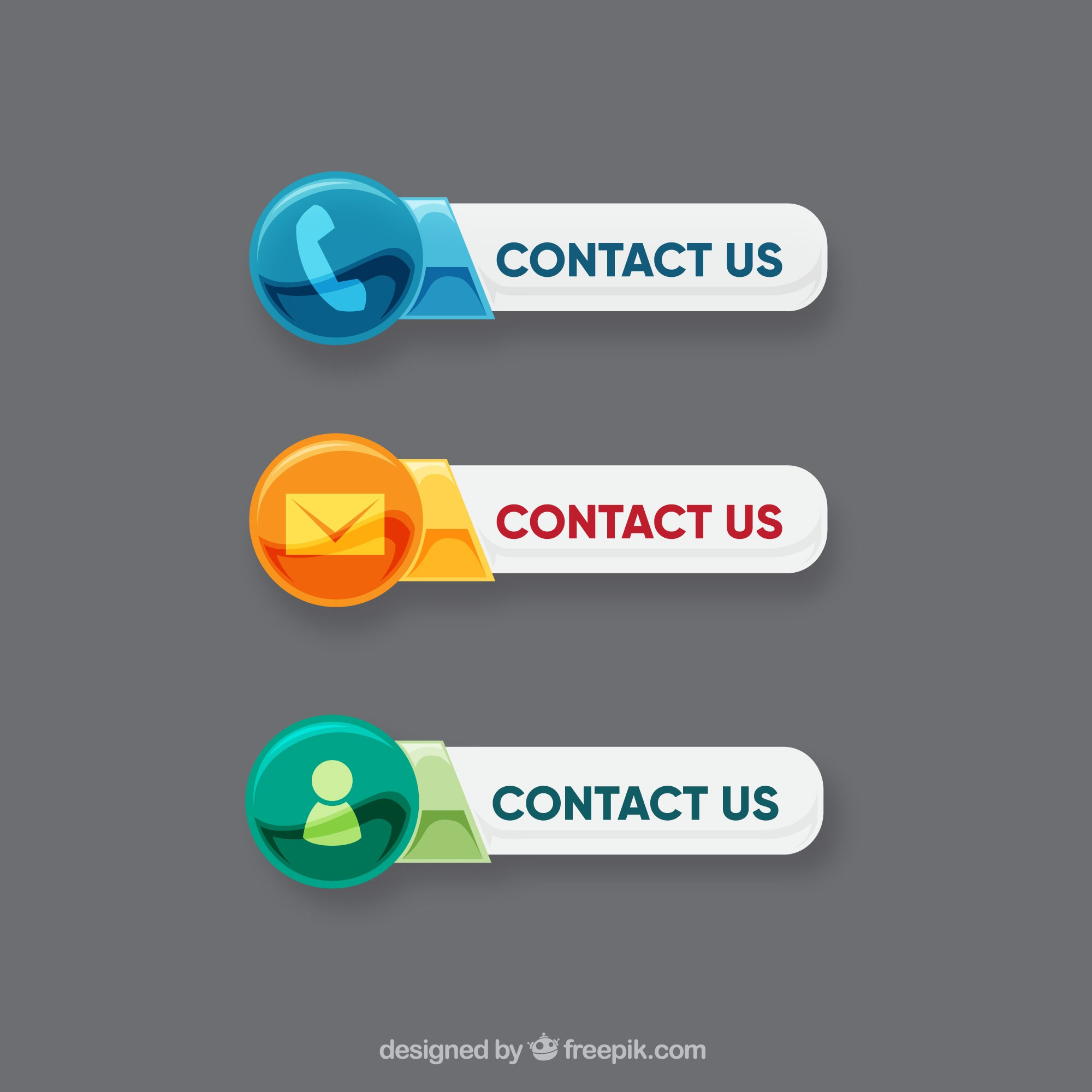Contact buttons with different icons