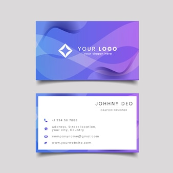 Contact card for company two sided gradient  illustration.