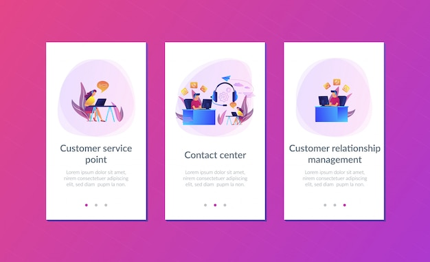 Contact center app interface template