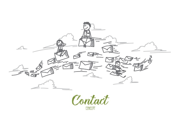 Contact concept illustration
