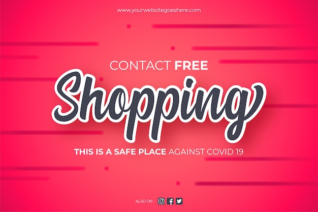 Contact free shopping background