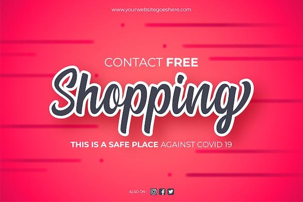 Contatta sfondo per lo shopping gratuito