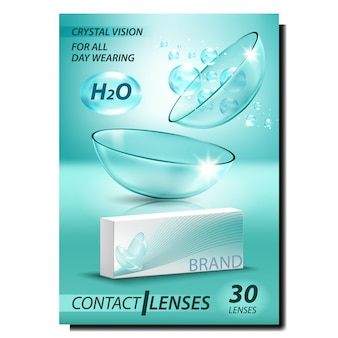 Contact lenses creative advertising banner