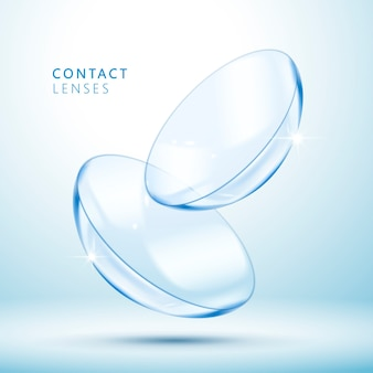 Contact lenses template illustration